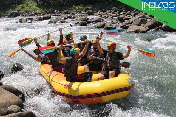 Rafting Sungai Elo, Pantang Pulang Sebelum Kecebur