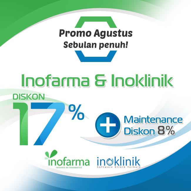Diskon 17% Inofarma & Inoklinik Sebulan PENUH!!!
