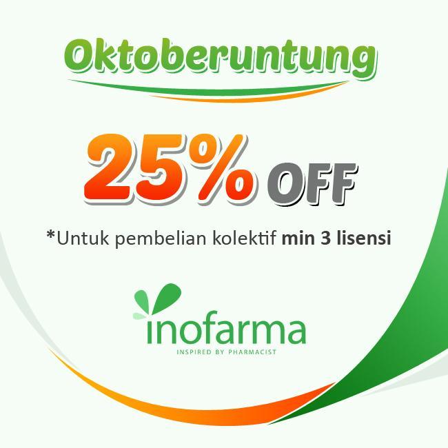 OktoBeruntung Inofarma Diskon 25%
