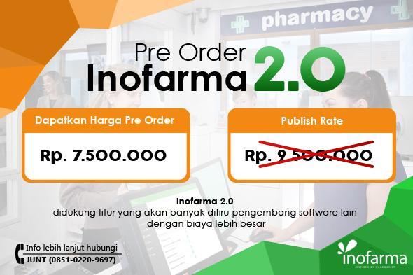 Lakukan Pre Order Inofarma 2.0 Sekarang Juga! GARANSI 100% UANG KEMBALI!