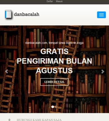 Website Toko Online DanBacalah.com